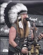 Zakk Wylde Signed Black Label Society Authentic 8x10 Photo Jsa Coa