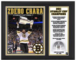 Boston Bruins Zdeno Chara 2011 Stanley Cup Champions Game-Used Ice Plaque