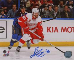 """Henrik Zetterberg Detroit Red Wings Autographed 8"""" x 10"""" Photograph"""