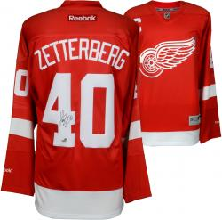 Henrik Zetterberg Detroit Red Wings Autographed Reebok Red Jersey - Mounted Memories