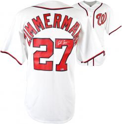 Jordan Zimmermann Washington Nationals Autographed Majestic Home Jersey - Mounted Memories