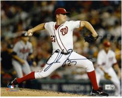 "Jordan Zimmermann Washington Nationals Autographed 8"" x 10"" Horizontal Photograph"