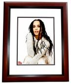Zoe Kravitz Signed - Autographed Singer - Actress 8x10 inch Photo MAHOGANY CUSTOM FRAME - Guaranteed to pass PSA or JSA - Divergent and Allegiant