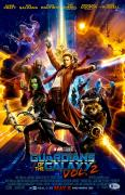 "Zoe Saldana Autographed 12"" x 18"" Guardians Of The Galaxy 2 Movie Poster - Beckett COA"