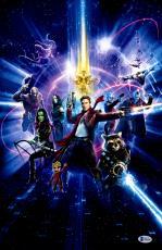 "Zoe Saldana Autographed 12"" x 18"" Guardians Of The Galaxy 2 Photograph - Beckett COA"