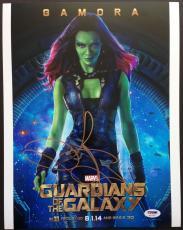 Zoe Saldana Signed 11x14 Photo Guardians Of The Galaxy Autograph Psa Dna Coa