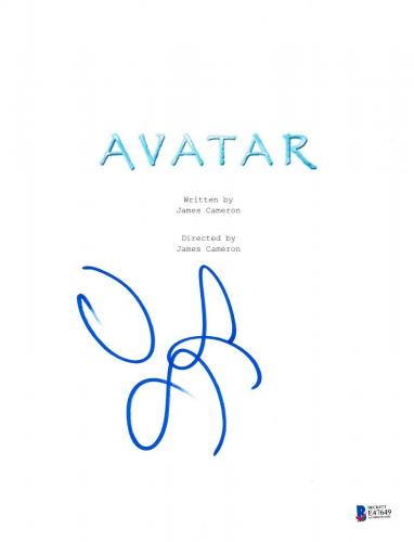 Zoe Saldana Signed Avatar Script Beckett Bas Autograph Auto