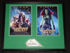 Zoe Saldana Signed Framed 16x20 Photo Set Guardians of the Galaxy Gamora B