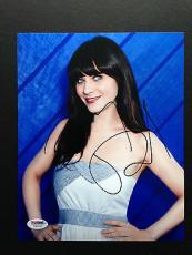 Zooey Deschanel Siged 8x10 Photo Autograph Psa Dna Coa New Girl
