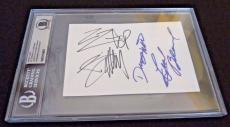 ZZ Top All 3 Band Autographed Signed 4X6 Index Beckett Certified Billy Gibbons