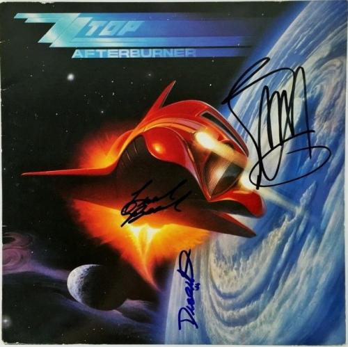 "ZZ Top Autographed ""Afterburner"" Album Signed Billy Gibbons + 2 PSA DNA COA"