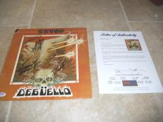 ZZ Top Band Signed Autographed Deguello LP Album Record All 3 PSA Certified