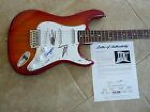ZZ Top Band Signed Autographed Electric Guitar Billy Frank & Dusty PSA Certified