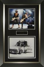 ZZ Top Band Signed Eldorado Bar Framed Display