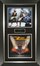 ZZ Top Band Signed Eliminator Album Flat Framed Display