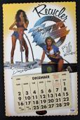 ZZ Top (Beard, Hill & Gibbons) Signed 11x17 1990 Calendar PSA/DNA #AB03346