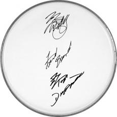 ZZ Top Billy Gibbons Dusty & Frank Autographed Facsimile Signed Clear Drumhead