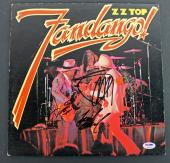 ZZ Top (Billy Gibbons, Dusty Hill & Frank Beard) Signed Album Cover PSA #AB04427