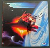 ZZ Top (Billy Gibbons, Dusty Hill & Frank Beard) Signed Album Cover PSA #AB04428