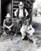ZZ Top Billy Gibbons, Frank Beard, Dusty Hill Signed 16X20 B&W Photo BAS #A02024