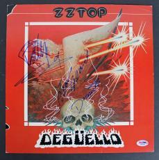 ZZ Top - Billy Gibbons, Frank Beard, & Dusty Hill Signed Album Flat PSA #AB08428
