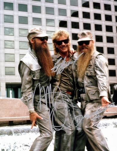 ZZ Top Complete Group Signed - Autographed 11x14 inch Photo by Billy Gibbons, Frank Beard, and Dusty Hill - Guaranteed to pass PSA or JSA