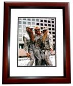 ZZ Top Complete Group Signed - Autographed 11x14 inch Photo by Billy Gibbons, Frank Beard, and Dusty Hill - MAHOGANY CUSTOM FRAME - Guaranteed to pass PSA or JSA
