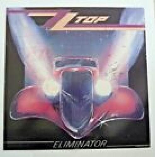 ZZ Top Eliminator Billy Gibbons Frank Beard Signed LP Poster Flat BAS Certified