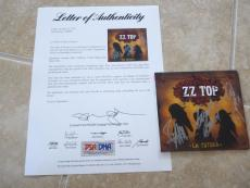 ZZ Top La Futura All 3 Billy Dusty Frank Autograph Signed CD Cover PSA Certified