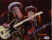 Zz Top Signed 8x10 Photo Dusty Hill / Billy Gibbons Psa