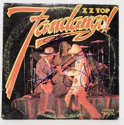 "ZZ TOP Signed Autographed Billy Gibbons +2 ""FANDANGO"" Album Vinyl LP JSA #Z82661"