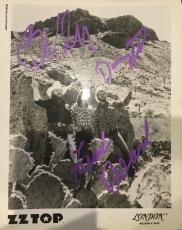 ZZ TOP vintage signed autographed 8x10 promo photo Billy Dusty Frank PSA DNA COA
