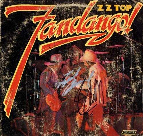 ZZ Top X2 Billy Autographed Fandango Album Cover AFTAL UACC RD COA